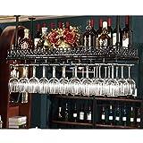 Jiuhhxx Botellero para Colgar, Botellero Vintage De Hierro Forjado, Botellero para Bar,...