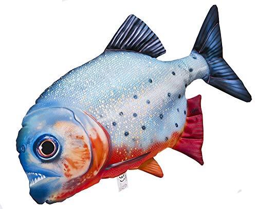 Gaby ROTBAUCH Piranha 47cm Kuscheltier Stofftier Fisch Polyester Kissen (Pygocentrus nattereri)