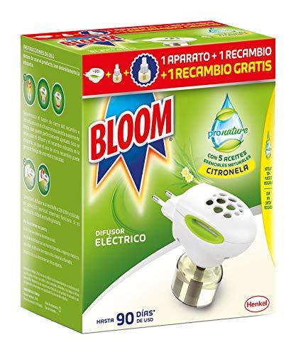 Bloom ProNature Difusor Eléctrico Líquido 1 Aparato + 2 Recambios