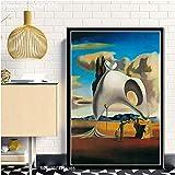 zxddzl Salvador Dali clásico Arte impresión Lienzo Pintura Cartel 17 21 * 30