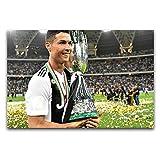 Italia ganó el campeonato, el campeón de la Liga de Fútbol, arte moderno para pared, sala de estar, dormitorio, gimnasio, decoración de 30 x 45 cm