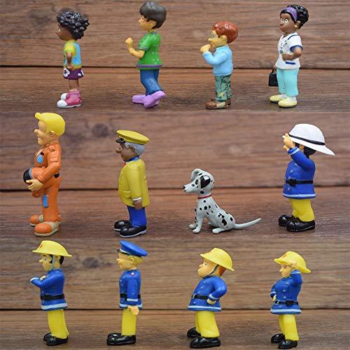 Cumpleaños Regalos Juguetes Para Niños Creativo 12pcs Bombero Sam Dedo Muñecas Niños Cumpleaños Regalo Niño Niña Mano Acción Figura Juguete Sam El Bombero