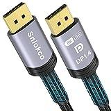 Cable DisplayPort 1.4, Sniokco Cable DP 2M (8K@60Hz,4K,2K),Compatible con FreeSync G-Sync,Cable DisplayPort Trenzado de Nailon de 32.4Gbps de Velocidad Ultra Alta Para Ordenador Portátil,PC,Monitor,TV
