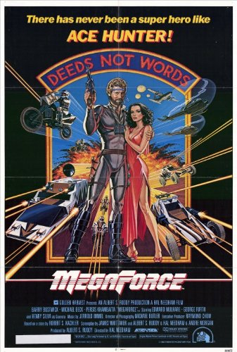 Megaforce Movie Poster (27 x 40 Inches - 69cm x 102cm) (1982) -(Barry Bostwick)(Persis Khambatta)(Edward Mulhare)(Henry Silva)(Michael Beck)(Ralph Wilcox)