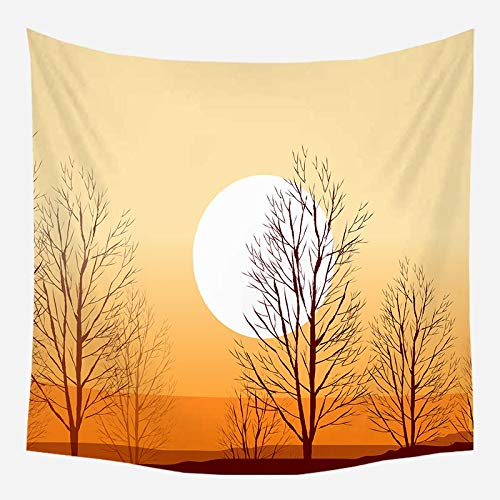 Tapiz de árbol de coco colgante de pared paisaje de puesta de sol tapiz de bosque playa estilo bohemio tela de fondo decorativo a12 180x200cm