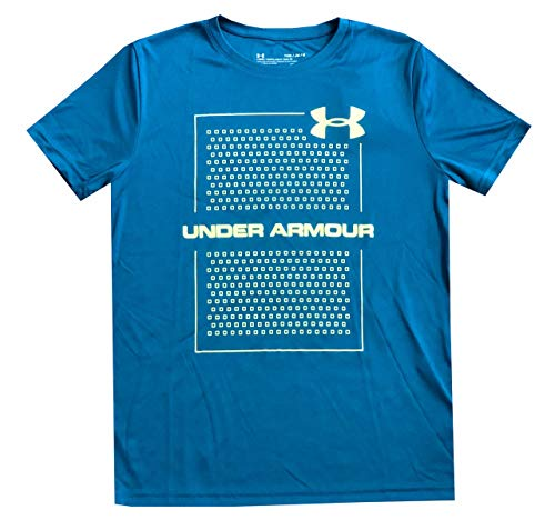 Under Armour Boys UA Tech Velocity Graphic Short Sleeve T-Shirt (YMD, Teal)