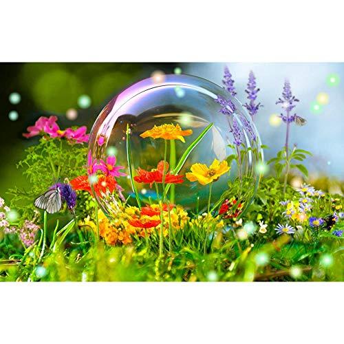 Kits de Pintura de Diamantes 5D DIY, Pintura de Bordado de Diamantes de Taladro Completo por Kits de Números Decoración de pared para el Hogar Perfecto 30x40cm flor