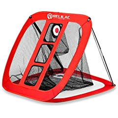 SIMPLY AMAZING - Your Rolilac Golf Chipping Net is a perfect compact and versatile chipping training aid. It features multiple pockets and targets to improve your short distance pitching accuracy and keep challenging yourself. Best for golfers of all...