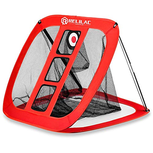 RELILAC Pop Up Golf Chipping Net - Indoor/Outdoor Golfing Target Accessories for Backyard Accuracy and Swing Practice - Great Gifts for Men, Dad, Husband, Women, Kid, Golfers
