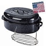 Warmcook - 0508+2006 - Cocotte ovale en acier carbon 38x26cm + grille roaster