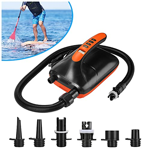 Air Pump, AGPTEK Electric Air Pump 20PSI Digital Electric Air Pump, Intelligent Dual Stage & Auto-Off Function, Great for Paddle Boards, Inflatable Boats and Kayaks