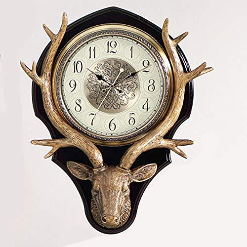 Wandklok herten hoofd quartz horloge retro creatieve decoratie stomme woonkamer studeerkamer BL