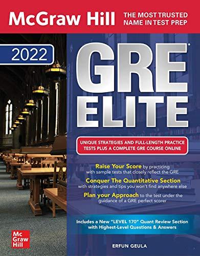 McGraw-Hill Education GRE Elite 2022