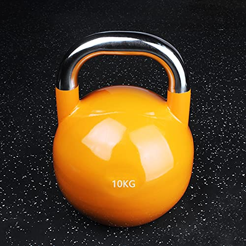 YQX-Manubrio Smerigliato Lucido Rivestito in Gomma Rivestito di Gomma Rivestito in Plastica Varie Specifiche Kettlebell Portatile A Colori da Palestra,10kg