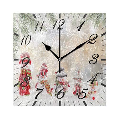 Jacque Dusk Reloj de Pared Moderno,Muñeco de Nieve Papá No