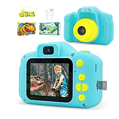 DYY Dinosaur Theme Kids Camera HD 1080p Video Selfie Digital Camera for Kids Dream Gift for 3 4 5 6 7 8 Years Old Boys and Girls Toddler Video Record Camera with 32GB SD Card 2.0 Inch IPS Screen by DYY