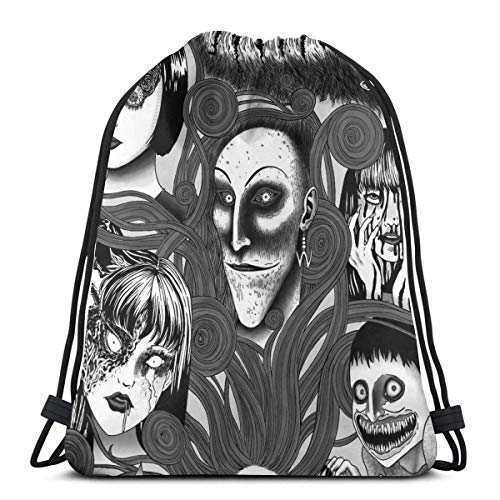 354 Cinch Bags Junji Ito Tomie Terror Manga Style Student Drawstring Bag Sport Storage Goodie Travel Casual Men Gym Women Backpack Christmas Print Cinch Bags Durable Lightweight Gift