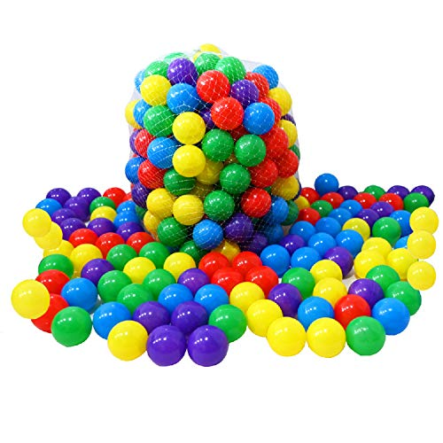 RASENFREUND 5000 unidades de bolas para piscina de pelotas, 5,5 cm de diámetro, para niños y bebés, de plástico, 5000 unidades