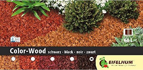 Eifelhum Dekormulch Color Wood schwarz 60 Liter
