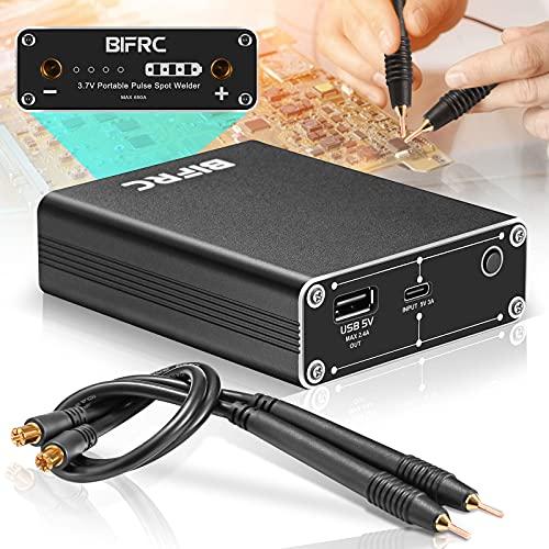 S SMAUTOP 18650 Batterie Punktschweißgerät, akku punktschweißgerät Mini 5500mah Haushaltsfaser Punktschweißgerät mit Schnellverschlussstift/200cm Nickelblatt/Typ-C-Ladekabel