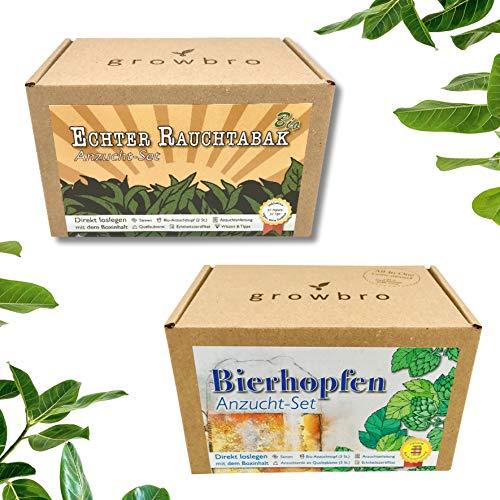 growbro Geschenk Set: Hopfen & Tabak Bro für 19,99 € anstatt 32,99 €