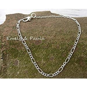 Gliederarmband für Anhänger Bettelarmband Fb silber Figarokette Basis-Armband