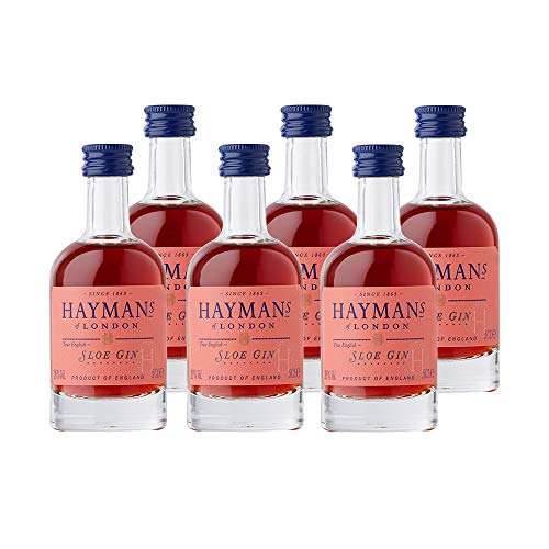 Haymans Sloe Gin Mini - Ginebra, 6 botellas x 50 ml