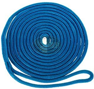 Maple Leaf Ropes Nylon Double Braid Dock Line 5/8 x 30' Blue