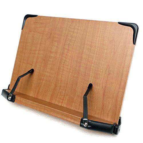 見やすい角度に14段階調節 木製ブックスタンド コンパクトサイズ(30×21cm) 折りたたみ式 多用途 書見台 筆記台 (メーカー直輸入品)