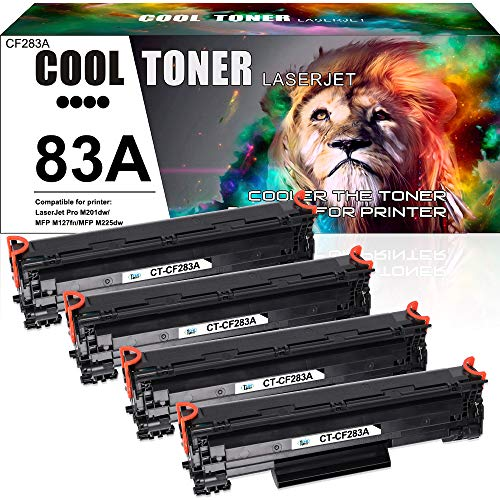 Cool Toner Kompatibel Toner Cartridge Replacement für 83A CF283A Toner Tonerkartusche für HP Laserjet Pro MFP M128fn M125a M125nw M127fn M225dn M225dw, HP Pro M201n M201dw, 1500 Seiten