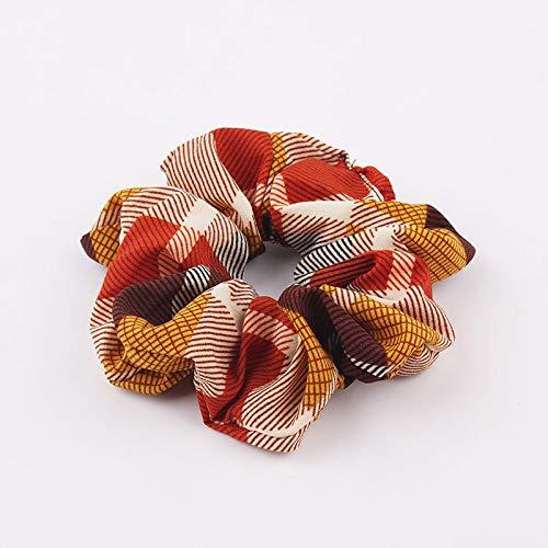 Simple plaid grand anneau tissu tissu bague en mousseline de soie feuilles de banane (peut être personnalisé) 8