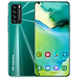 LVHC V20 PRO Smartphone 4G Android 10.0, 7.3 '' 1GB/8GB Rom 5600mAh Telefoni Cellulari, 24MP+48MP Dual SIM Riconoscimento Facciale/Impronte Digitali Telefonia Mobile,Verde