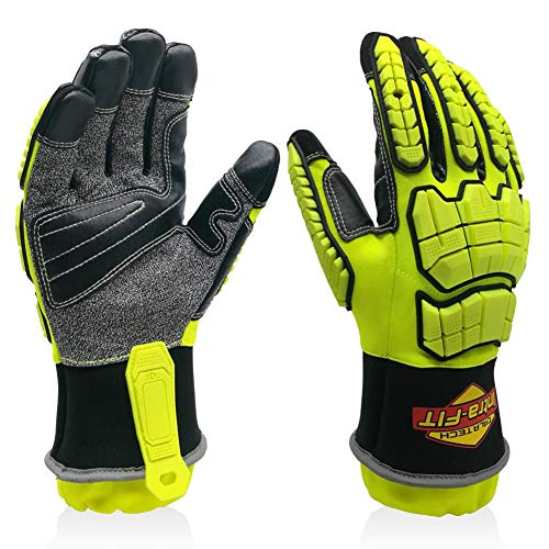 Intra-FIT Rescue 79314 Extrication Gloves with Impact and Tear/abrasion/Puncture/Cut Protection, Strong Dexterity (Large)