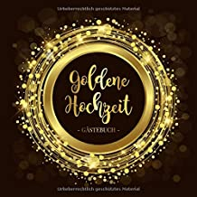 Goldene Hochzeit Gästebuch Blanko Gästebuch Eintragebuch
