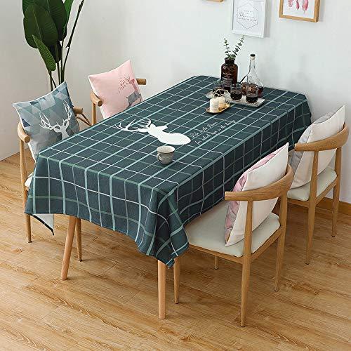 Generic JINYUANSHOP Nordic Tischdecke wasserdicht und ölbeständig Einweg quadratische Tischdecke Tischdecke Tischdecke Tischdecke Baumwolle und Leinen kleinen frischen Stoff Couchtisch Pad Tischdecke