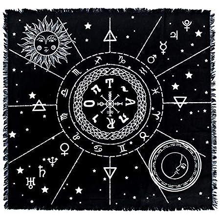 Pa/ño Para Cartas De Tarot De Altar Celos/ía De Cristal Manta De Tapiz De Astrolog/ía De 50 X 50 Cm Mantel Especial De Cartas De Tarot Suave Y Ligero Mantel De Tarot Cuadrado Decoraci/ón De Tarot