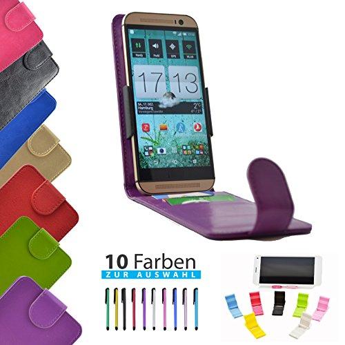 4 in 1 set ikracase Slide Flip Hülle für Archos 50 Titanium 4G Smartphone Tasche Case Cover Schutzhülle Smartphone Etui in Violett