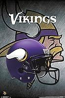"Trends International Minnesota Vikings Helmet Wall Poster 22.375"" x 34"""
