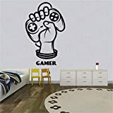 Vinyl Wall Decal Gamer Joystick Player Game Zone Teenage Room Gamer Wandaufkleber Wandsticker...