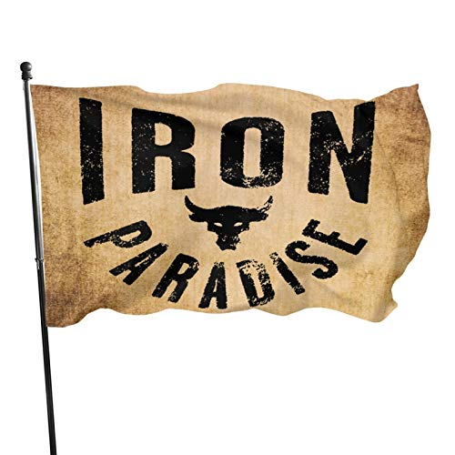QQQQM Iron Paradise Home Decoration Flag Garden Flag Indoor Outdoor Flag 3x5 Ft