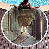 Olie Cam Toalla de Playa Redonda Corredor Urbano de pilares de hormigón Estructura Urbana Industrial Estilo rústico Diseño