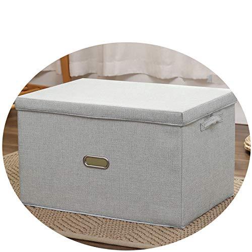 QNN Caja de Alenamiento Plegable de Algodón Y Lino. Caja de Alenamiento de Cajones Caja de Alenamiento de Tela Caja de Alenamiento Japonesa Bolsa de Alenamiento de Embalaje Libros/Gris