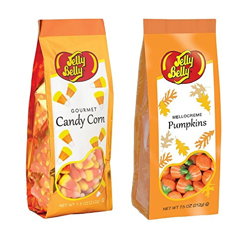 Jelly Belly Candy Corn & Mellocreme Pumpkins 7.5 Oz Combo Set Gluten Free Kosher Candy