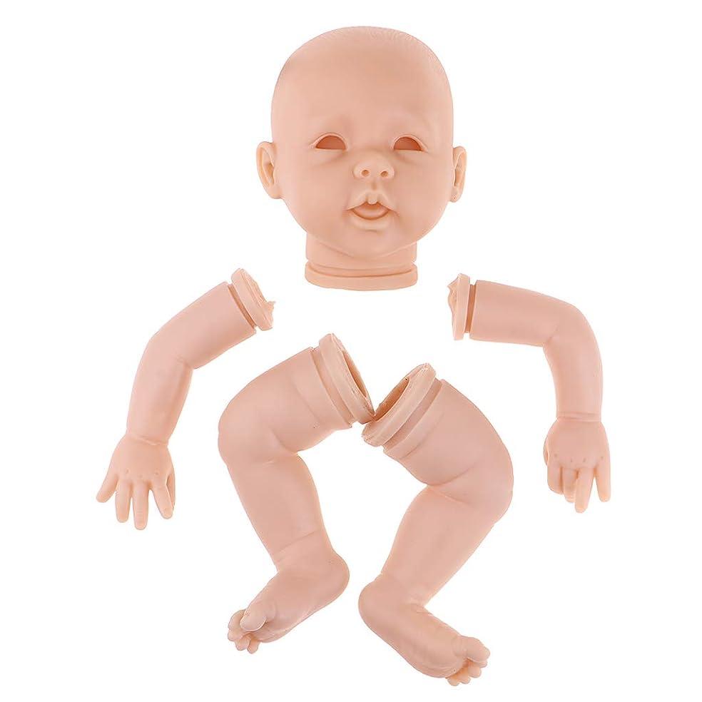 日の出ドル豊富Perfeclan 22インチガールドール人形 リボーンドールボディ ヘッド 3/4手 フルレッグ 新生児人形 全2カラー - #1