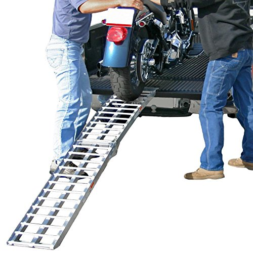 "Rage Powersports Black Widow AF-9012-HD Aluminum 7' 5"" Arched Folding Motorcycle Ramp"