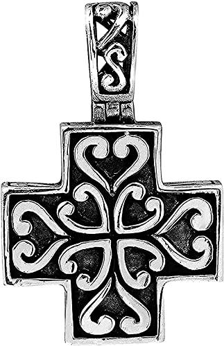 Yiffshunl Collar Hermoso Collar Colgante con Cruz Griega 925 en Regalos de corazón