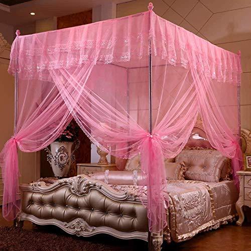 gengxinxin para Cama De Mosquitera De Fácil Mosquitera para Cama Cortina De Cama Canopy Mosquitera Destinado A Cubrir Camas S Hamacas (Rosa X-Long Twin) -Pink X-Long Twin-Pink_Twin XL