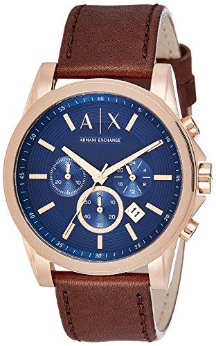 Armani Exchange Reloj analógico para Hombre de Cuarzo con Correa en Cuero AX2508