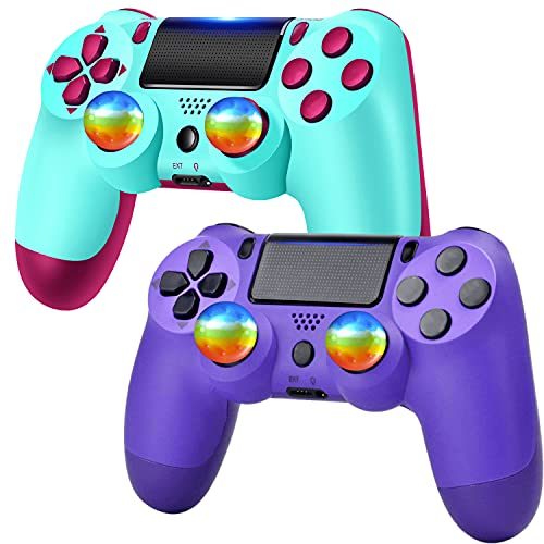 Wireless Controller Remote with Charging Cable, (Berry Blue,Purple)……
