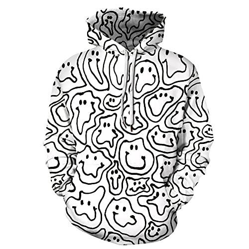 BDSY Hombre Sudadera Vikingo 3D Impresión Digital De Otoño E Invierno Grandes Hombres Y Mujeres De Bolsillo Suéter Encapuchado Universales-Cw821_L